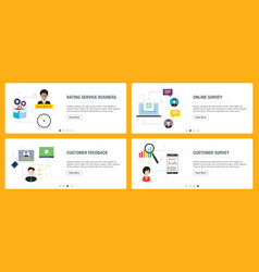 rating system feedback and qualification vector image
