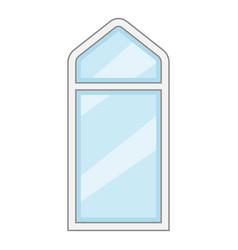 rectangle window frame icon cartoon style vector image