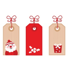 retro christmas gift tags vector image