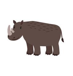 rhino grey safary animal icon vector image