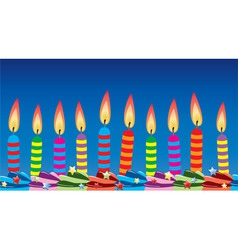 row birthday candles vector image