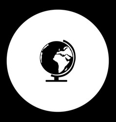 School globe simple silhouette black icon eps10 vector