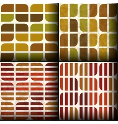 Seamless patterns with autumn colours vector