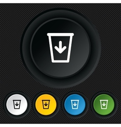 Send to trash icon recycle bin sign vector