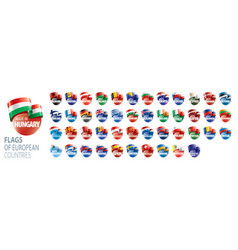 set flags europe vector image