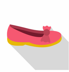 shoe icon flat style vector image