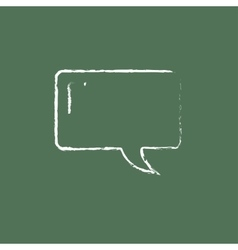 Speech square icon drawn in chalk vector image