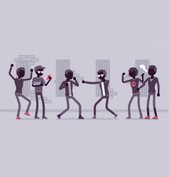 street fight boys vector image