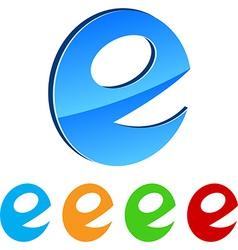 stylized E vector image
