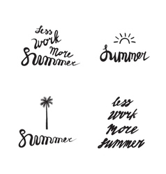 Summer logo set vector