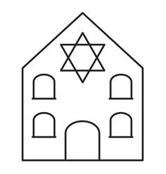 Synagogue line icon vector