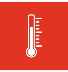The thermometer icon Thermometer symbol Flat vector image