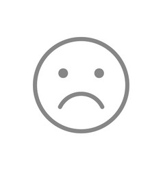 unhappy emoji line icon upset unsatisfied face vector image