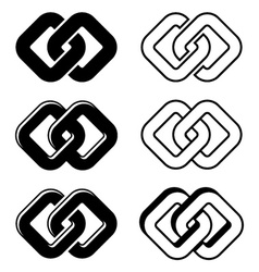 unity black white symbols vector image