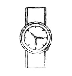 vintage luxury wristwatch vector image