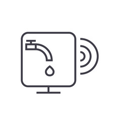 Water sensor line icon sign vector