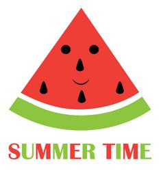 Watermelon fun summer background vector