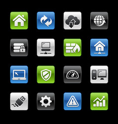 web developer icons - gelbox series vector image