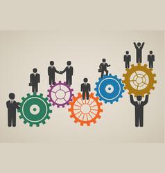 Workforce team working business people vector