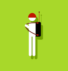 flat icon design collection soldier holding vector image vector image