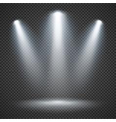 Scene illumination with bright lighting of vector image vector image