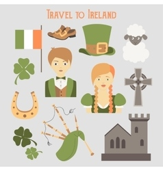 Travel to Ireland vector image