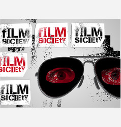 Typographic graffiti design for film society vector