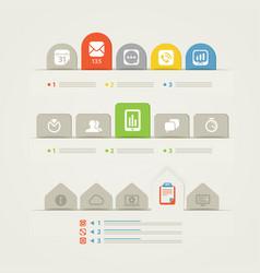 Abstract web page menu template vector image vector image