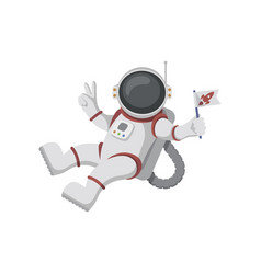 astronaut isolated on white background vector image