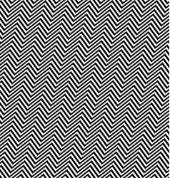 Black white angular seamless zig zag line pattern vector