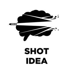 brain shot idea icon creative thinking concept vector image vector image