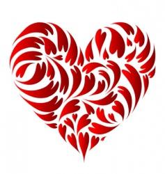 heart shape design vector image vector image