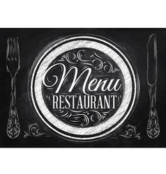 Menu Restaurant chalk vector image