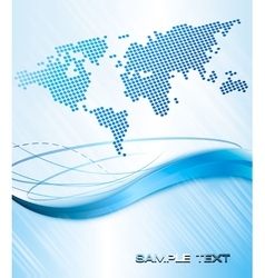 business abstract background with world map vector image vector image