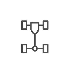 car chassis line icon vector image