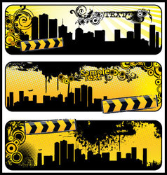 city banners vector image