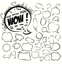 Collection of comic style speech bubbles vector image vector image