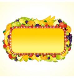 juicy billboard vector image vector image