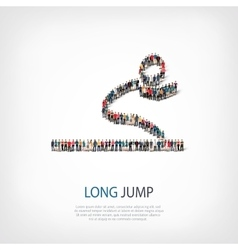 people long jump vector image vector image