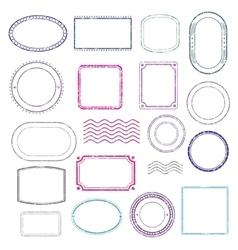 Stamps frames set vector image vector image