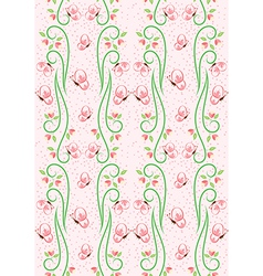 Swirl Nature Butterfly Pattern 2 vector image