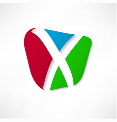 abstract icon based on the letter x vector image