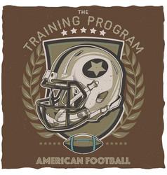 american football t-shirt label design vector image vector image