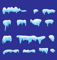 snow caps vector image