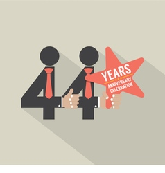 44th years anniversary typography design vector