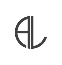 A-l-letter-logo-design vector