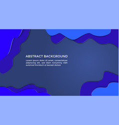 abstract background liquid paper cut navy vector image