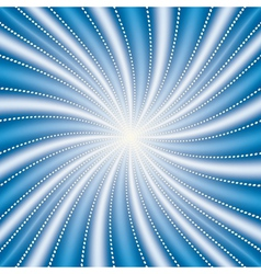 abstract blue radiate background vector image