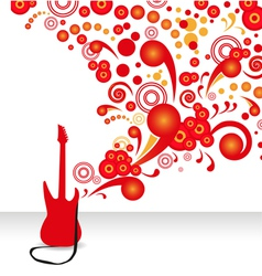 abstract guitar background vector image