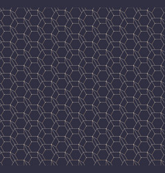 abstract hexagonal geometric seamless pattern vector image